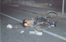 A bicyclist stoned to death in Urumchi rioting