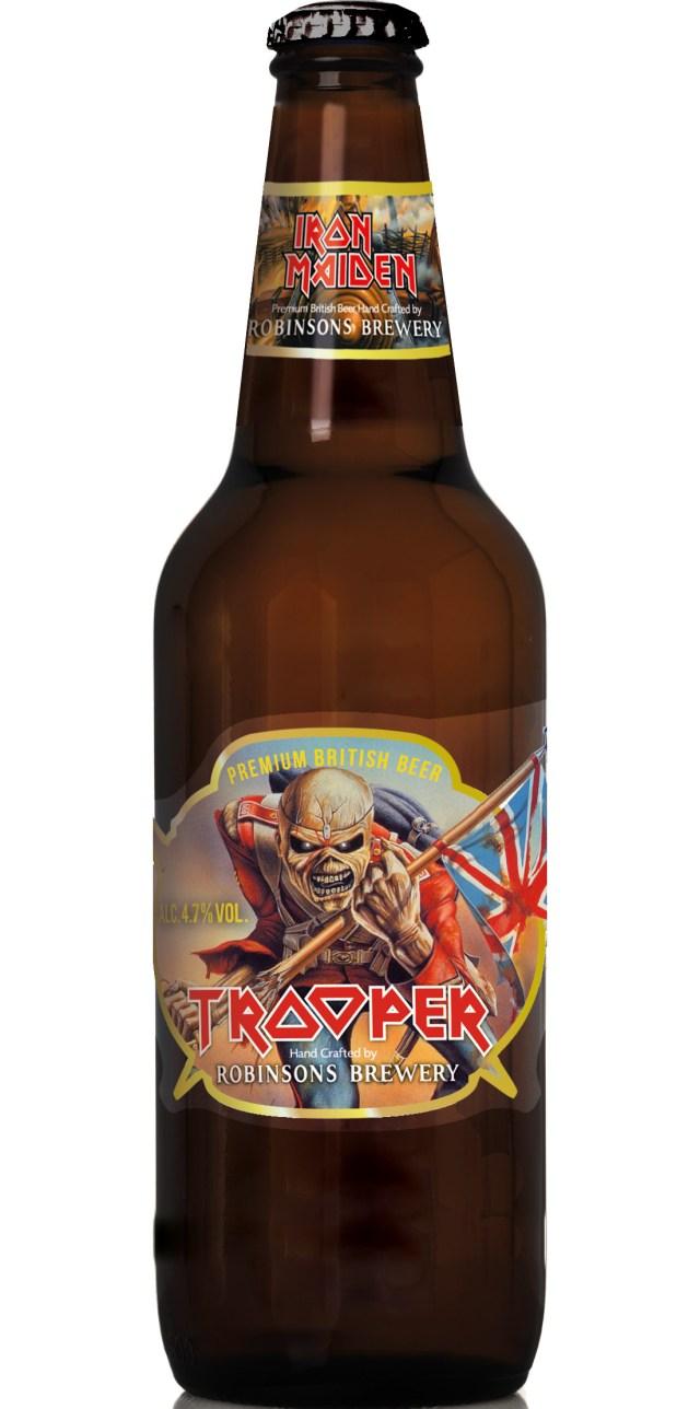 The Trooper, a cerveja oficial da banda Iron Maiden, já está à venda em Blumenau (SC). Imagem: Divulgação