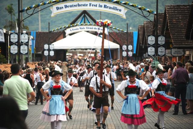 Relembrar as tradições dos imigrantes é destaque da Festa Pomerana. Imagem: Arquivo/Festa Pomerana