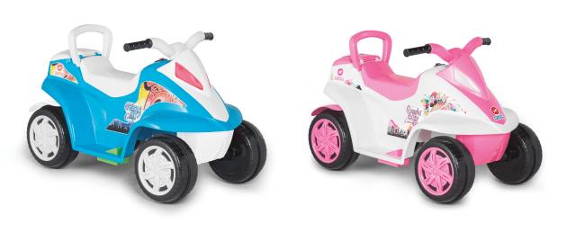 A moto Max Calesita garante o conforto e a segurança das crianças. Imagem: Divulgação