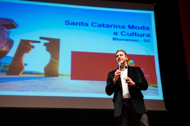Artur Grynbaum esteve em Santa Catarina na última sexta-feira (10). Imagem: Daniel Zimmermann