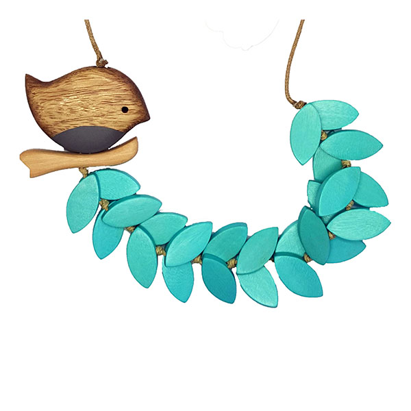 Turquoise Bird Statement Necklace