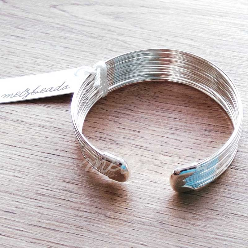Multi Strand Open Silver Bangle