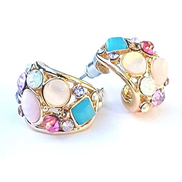 vintage rhinestones stud earrings