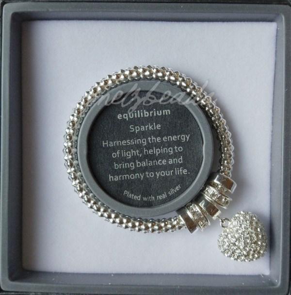 Equilibrium Silver Heart Mesh Bracelet