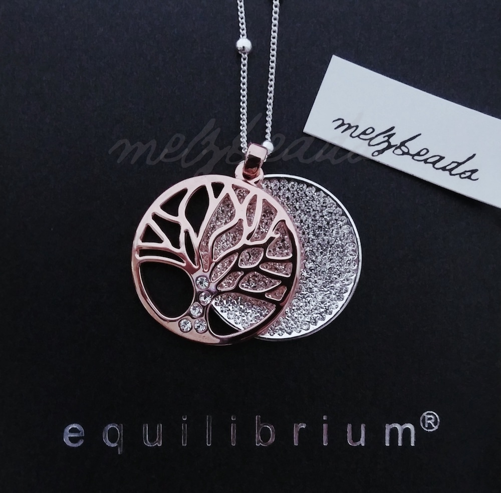 Equilibrium Sparkle Rose Gold Tree of Life Long Necklace