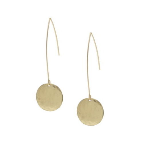 Matt Gold Drop Earrings