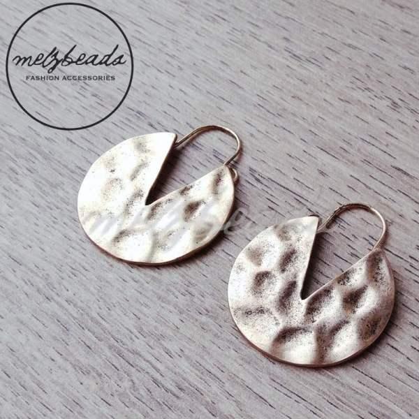 metal beaten earrings