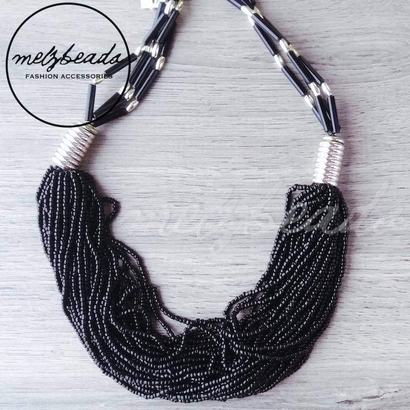 Black Seed Bead Necklace