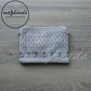 Light Grey clutch handbag