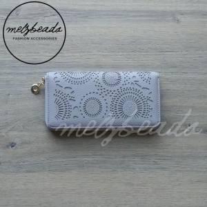 light grey wallet purse