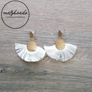 White Tassel Earrings