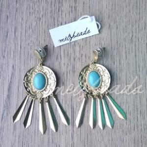 gold tribal earrings