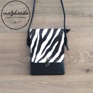 Zebra Crossover Flap Bag