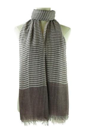 Large Wine Checkered Scarf