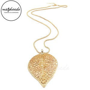 Falling Leaf Rose Gold Necklace