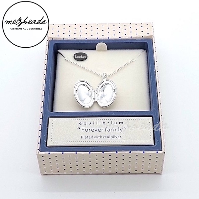 Equilibrium Forever Family Locket Necklace in Silver