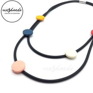 Georgia Double Strand Rubber Necklace