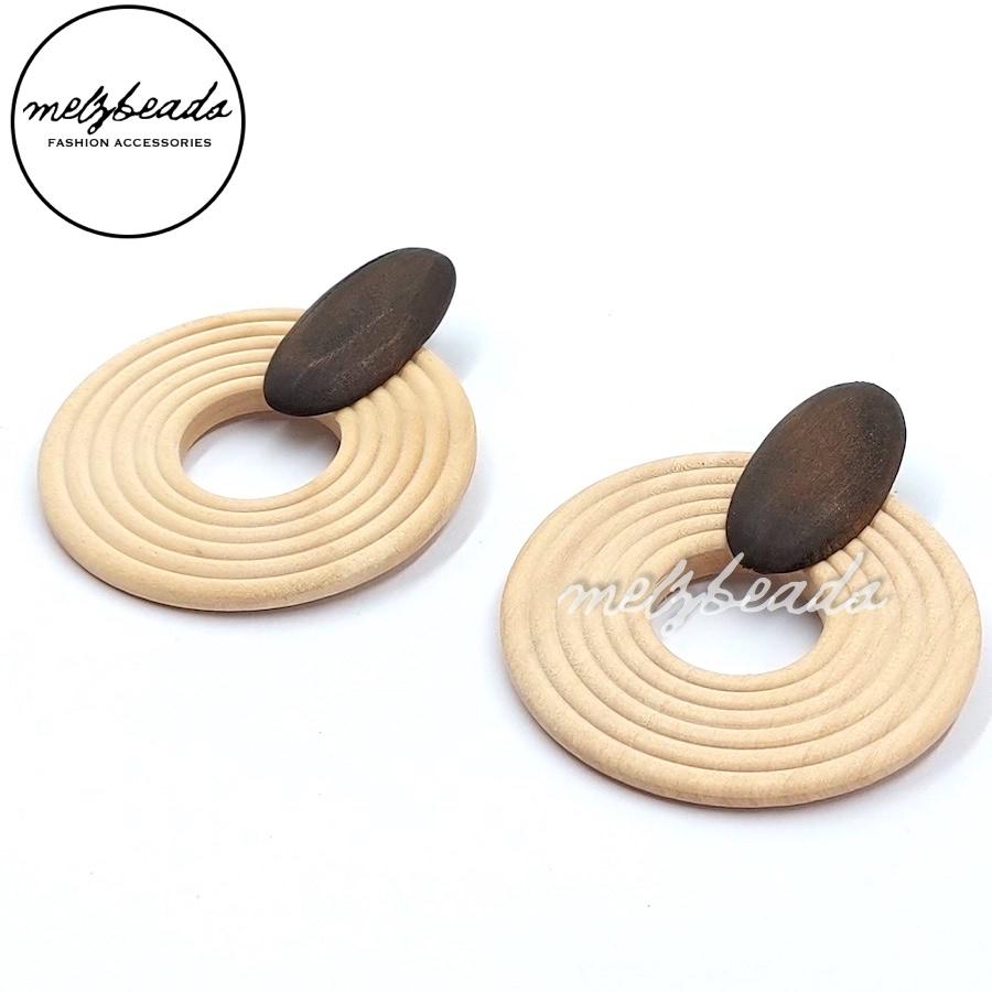 Circular Wooden Earrings