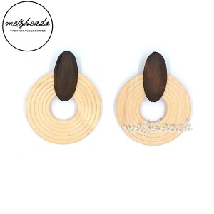 Circular Wooden Earrings