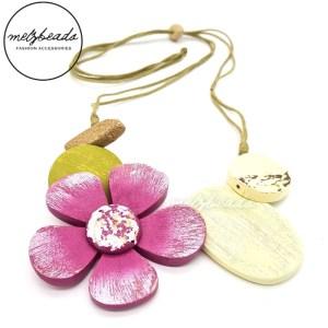 Wooden Flower Necklace