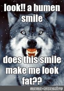 Create Meme Ya Ne Citiruyu Omar Hayama Ya Ebu Tvoyu Mamu Wolf Pictures Wolf With Blue Eyes Grinning Wolf Pictures Meme Arsenal Com