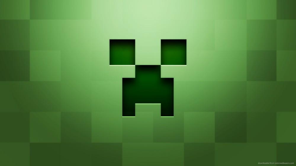 create meme creeper on a green