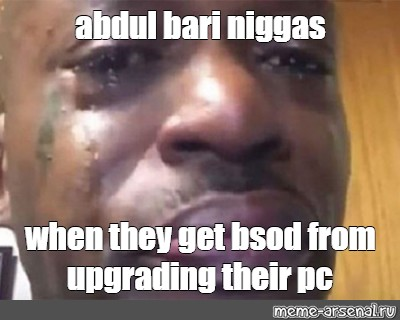 Meme Abdul Bari Niggas When They Get Bsod From Upgrading Their