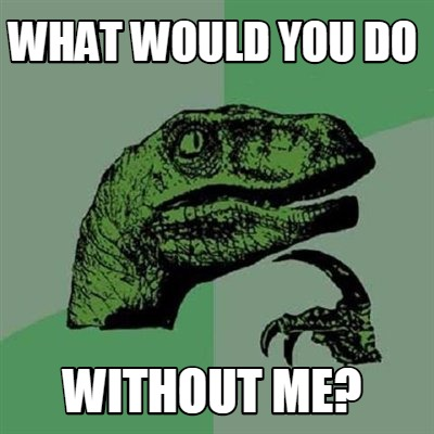 Meme Creator Funny What Would You Do Without Me Meme Generator