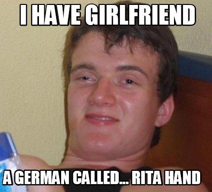 I Love My German Girlfriend She S Nein Pedobear Meme Generator