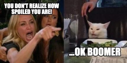 Meme Creator Lady Screaming And Cat Meme Generator At