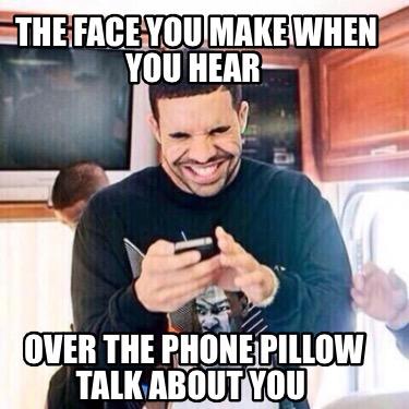 hear over the phone pillow talk