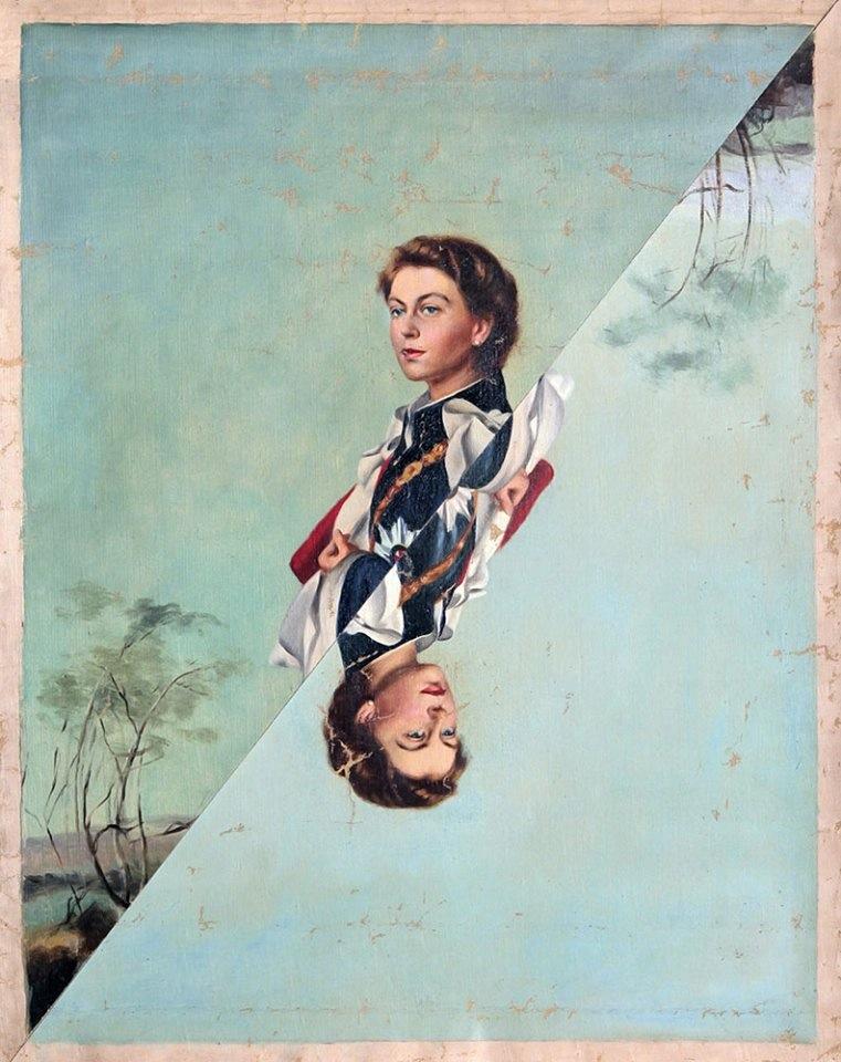 Dario Sbrana, Regina di maggio, 2012, cm 40x50, tecnica mista su tela