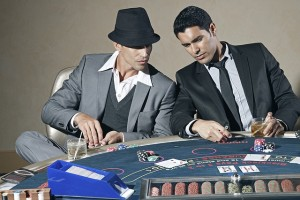players at poker table