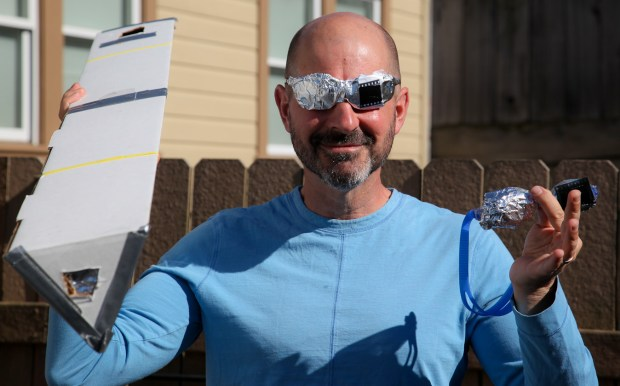 Ready for the Eclipse - Pinhole Projector & Home-made Solar Safety Glasses