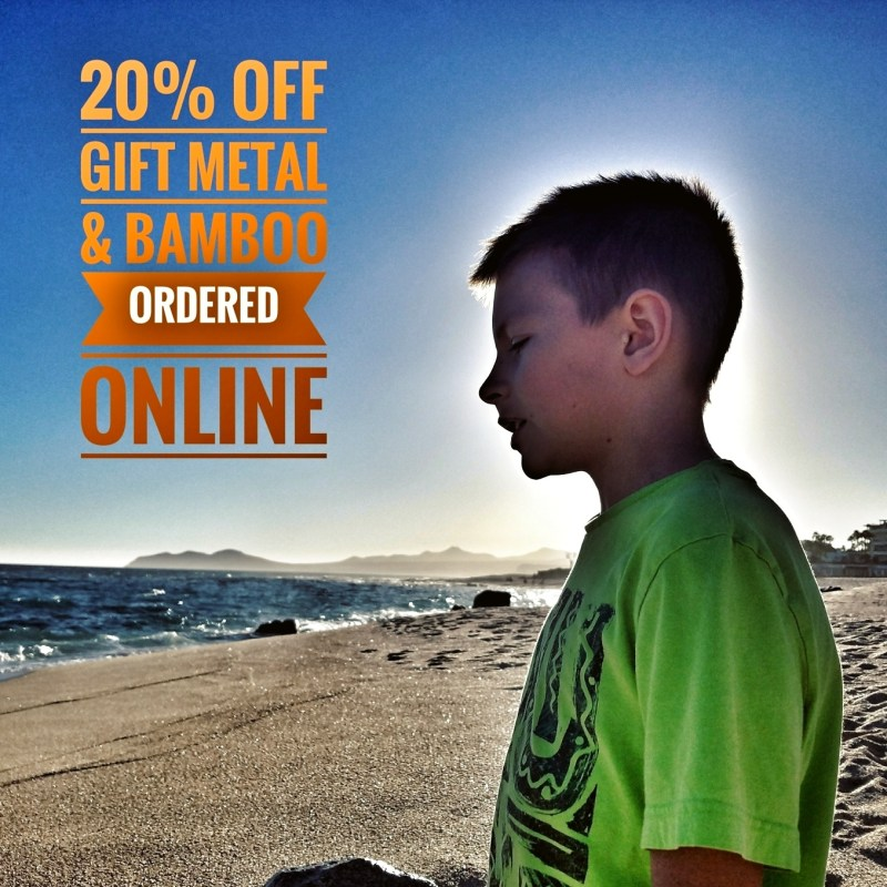 20% off Metal and Bamboo prints online at Shop.Mementopress.com