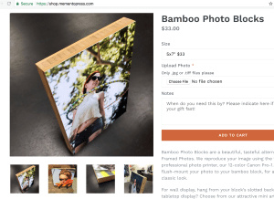 Order Bamboo or Metal prints, right from Shop.MementoPress.com