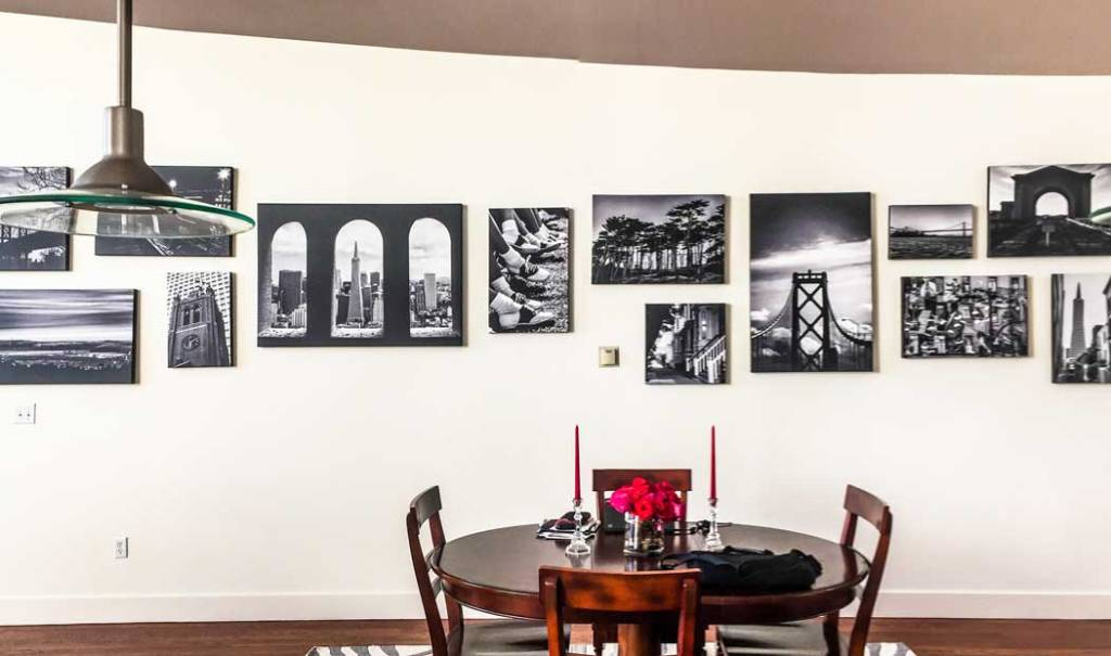 Wall Designed by Memento Press from Photo Selection to Installation