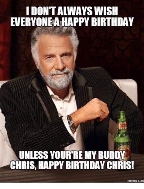 Happy Birthday Chris Memes