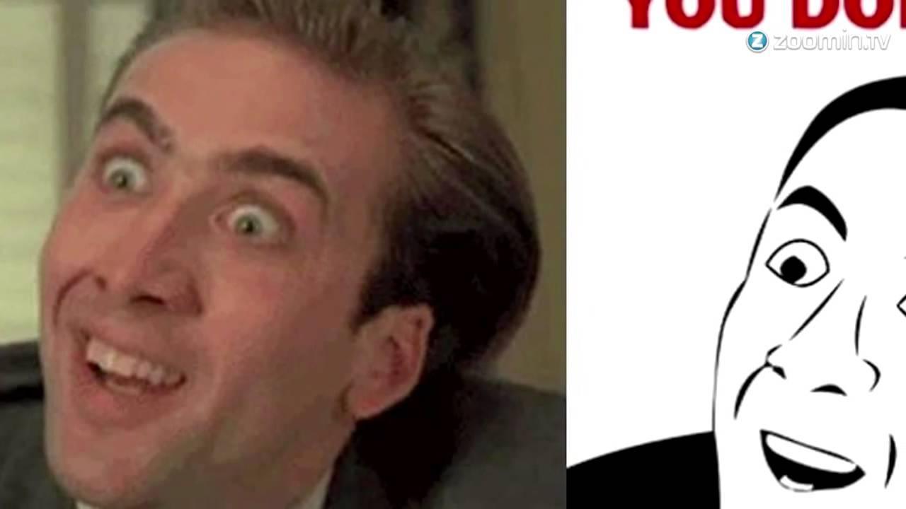 Nicolas Cage Meme Hoffnung Poster Stil Dekokissen Von Explosivea