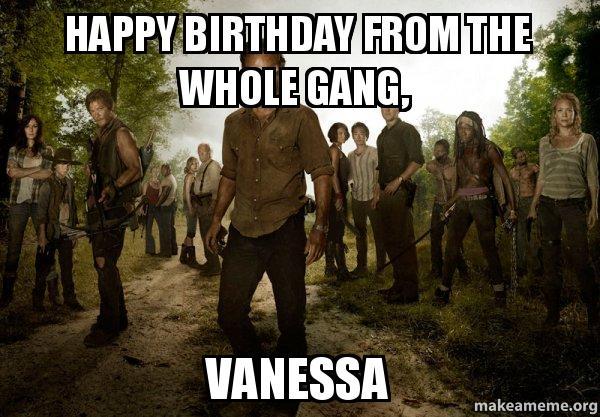 Walking Dead Birthday Memes