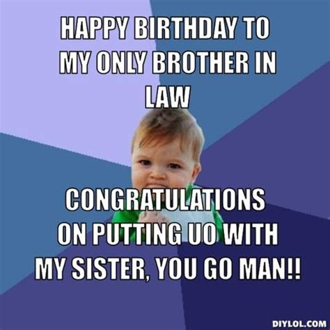 Happy Birthday Brother In Law Memes