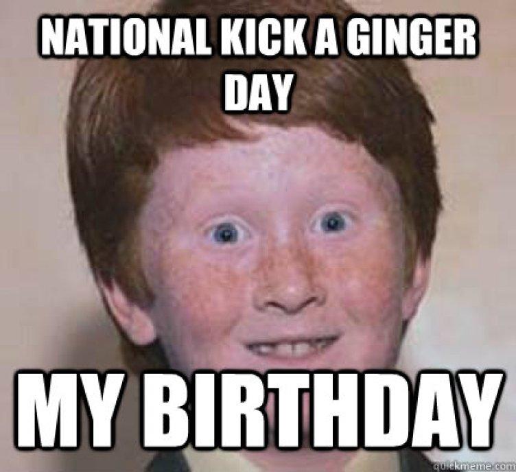 Ginger birthday Memes