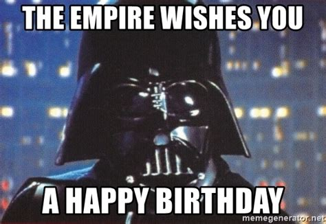 Darth Vader Birthday Memes