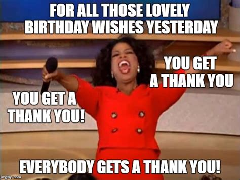 Thank You For Birthday Wishes Memes