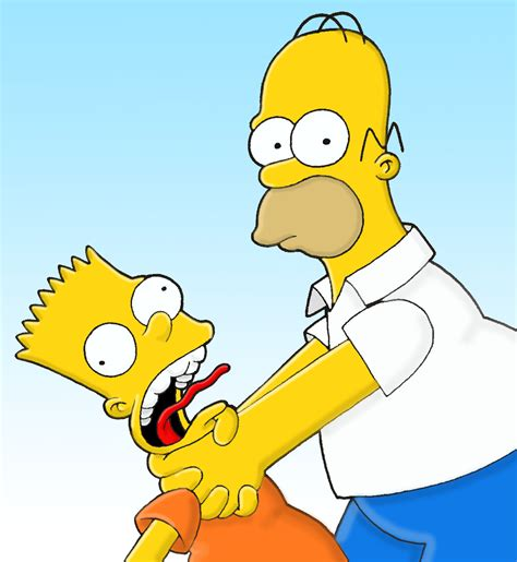 Homer Strangling Peppa The Simpsons Know Your Meme