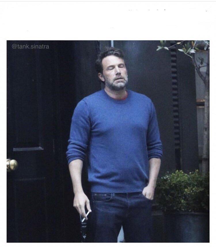 Ben Affleck smoking