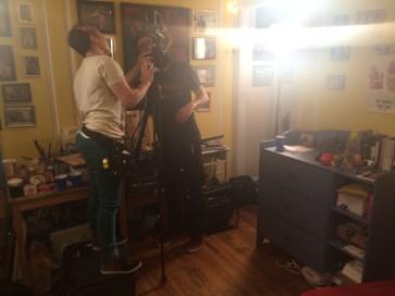 DP Peter Westervelt and AC Diana Molina setting up a shot January 2015