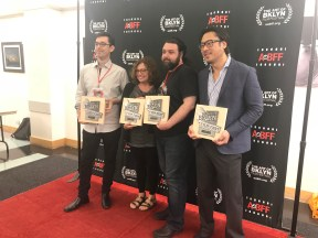 Director Sean Mannion with the other award winners from this year's festival.