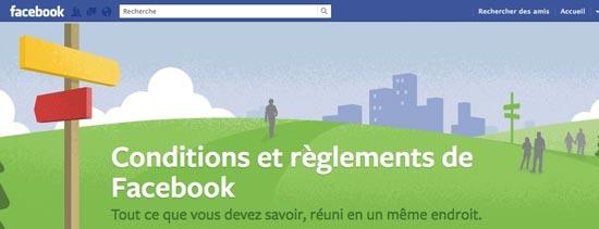 conditions utilisation facebook